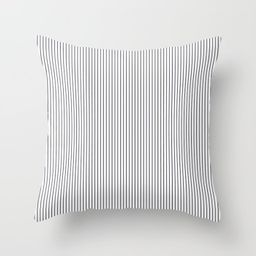 """Small Dark Grey Stripes Couch Throw Pillow by Cozymidnight - Cover (24"""" x 24"""") with pillow insert -  