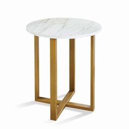 Better Homes & Gardens Lana Modern Side Table with Faux Marble Top, Ideal for Any Room   Walmart (US)
