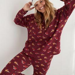Aerie Waffle Long Sleeve Pajama Shirt   American Eagle Outfitters (US & CA)