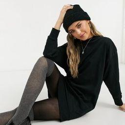 ASOS DESIGN seam detail sweat dress in black | ASOS (Global)