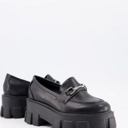 Truffle Collection chunky loafer in black | ASOS (Global)