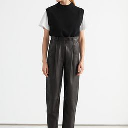 Tapered Leather Trousers | & Other Stories