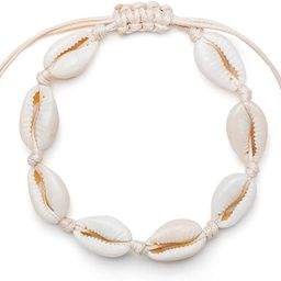 Fesciory Puka Shell Anklet for Women Summer Natural Cowrie Adjustable Ankle Bracelet, Handmade Bo... | Amazon (US)