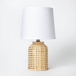 Cylinder Rattan Accent Lamp Brown - Threshold™ | Target