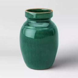 "9"" x 6"" Glazed Ceramic Vase Green - Threshold™ | Target"