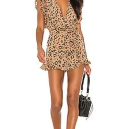 Lovers + Friends Jill Romper in Tan Leopard from Revolve.com   Revolve Clothing (Global)