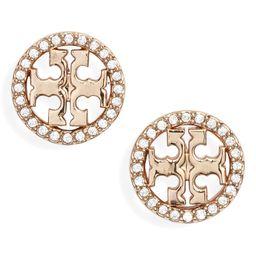 Crystal Logo Circle Stud Earrings | Nordstrom