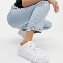 Nike Air Force 1 Jester trainers in triple white   ASOS (Global)