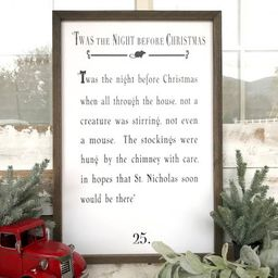 Twas The Night Before Christmas Book Rustic Farmhouse   Etsy   Etsy (US)