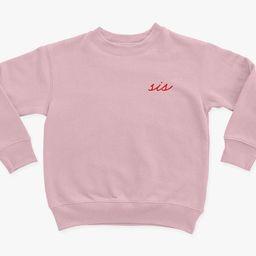 Sis Toddler Girl Sweatshirt Sister SweatshirtSibling Shirts | Etsy | Etsy (US)