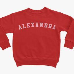 Personalized Athletic Toddler Girl Sweatshirt Toddler Girl | Etsy | Etsy (US)