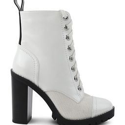 Pauline Faux Leather Combat Booties | Saks Fifth Avenue OFF 5TH