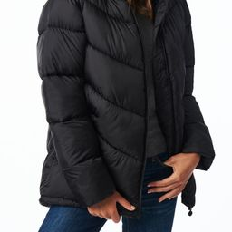 Chevron Quilted Water Resistant Puffer Coat | Nordstrom