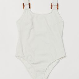 Ribbed Swimsuit   H&M (US)
