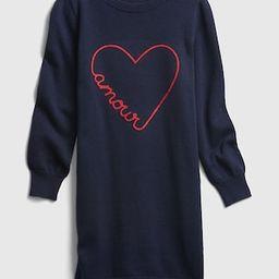 Girls / DressesKids Amour Graphic Sweater Dress | Gap (US)