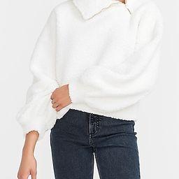 Cozy Asymmetrical Zip Sherpa Sweatshirt | Express