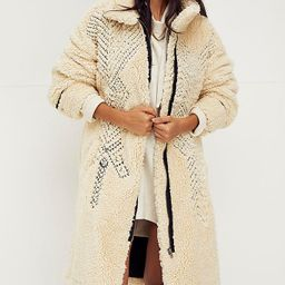 Avery Embroidered Teddy Coat | Free People (US)