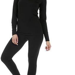Women's Ultra Soft Thermal Underwear Long Johns Set with Fleece Lined   Amazon (US)