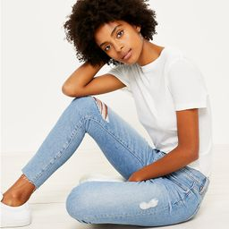 Petite Skinny Jeans in Vivid Light Indigo Wash   LOFT