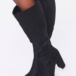Faux Suede Knee-High Block Heel Boots | Forever 21 (US)