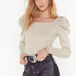 Square Neck Sweater with Puff Shoulders | NastyGal (US & CA)