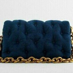 Details about  ZARA NEW WOMAN FW 2021 QUILTED DENIM MAXI CROSSBODY BAG DENIM BLUE 6365/610   eBay US