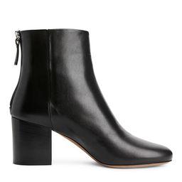 Mid-Heel Leather Boots   ARKET