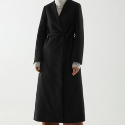 BELTED WOOL-CASHMERE COAT   COS (Global)