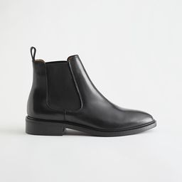 Almond Toe Leather Chelsea Boots | & Other Stories