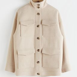 Oversized Wool Blend Utility Jacket | & Other Stories