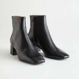Leather Heeled Ankle Boots   & Other Stories