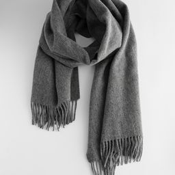 Wool Fringed Blanket Scarf   & Other Stories