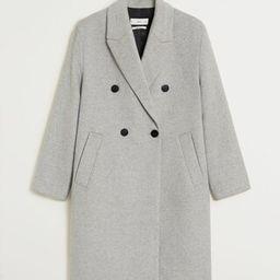 Wollen jas met knopen   MANGO (NL)