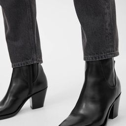 Leather Ankle Boots   ARKET