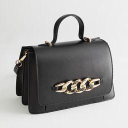 Buckle Embellished Leather Bag   & Other Stories