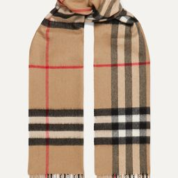 Camel Checked cashmere scarf   Burberry   NET-A-PORTER   Net-a-Porter (Global excpt. US)
