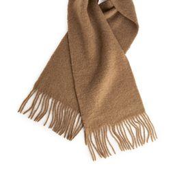 Fluffy Wool Scarf - Beige | ARKET