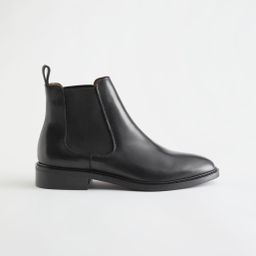 Almond Toe Leather Chelsea Boots - Black | & Other Stories