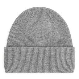 Fold Up Wool Beanie - Grey | ARKET