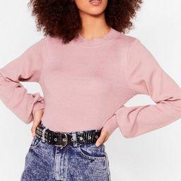 Knit Just Got Interesting Balloon Sleeve Sweater | NastyGal (US & CA)