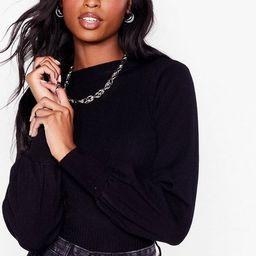 Knit Just Got Interesting Balloon Sleeve Sweater   NastyGal (US & CA)