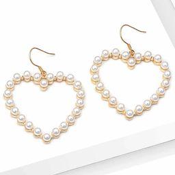 Open Heart Shape Drop Earrings 1pair | SHEIN