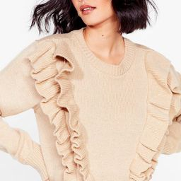We Frill Be There Ruffle Knit Sweater | NastyGal (US & CA)