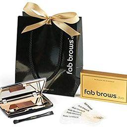 Fab Brows Duo Eyebrow Kit - Light / Medium Brown Makeup Kits Eye Brow Stencil Contour Palette Cos... | Amazon (US)