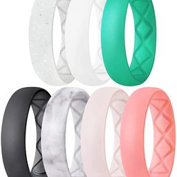 Inner Arc Ergonomic Breathable Design, Silicone Rings for Women with Half Sizes, Women's Silicone...   Amazon (US)