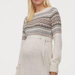 MAMA Jacquard-knit Dress | H&M (US)