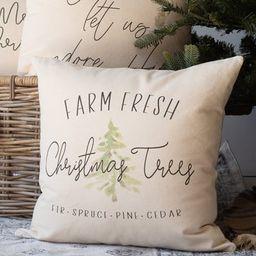 Christmas Pillow | Farm Fresh Christmas Trees Pillow | Christmas Decor Pillow | Throw Pillows | D... | Etsy (US)