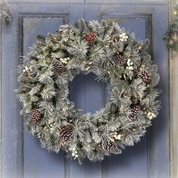 "30"" Glistening Pine Wreath | Overstock"