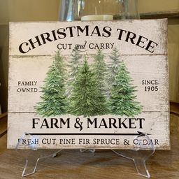 Christmas tree sign | Etsy (US)