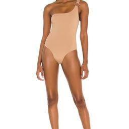 KYA Amara Reversible One Piece in Rose Gold & Latte from Revolve.com   Revolve Clothing (Global)